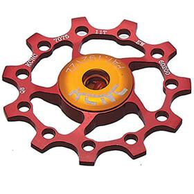 KCNC Jockey Wheel 10T Ceramic Bearing, red